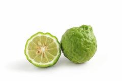 Kaffir Lime. On white background stock images