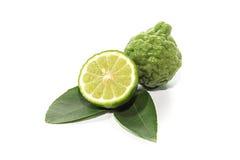 Kaffirkalk und grünes Blatt Stockfoto