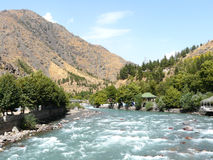 The Kafirnigan River. In Romit gorge Tajikistan Royalty Free Stock Image