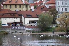 Kafka museum i Prague Fotografering för Bildbyråer