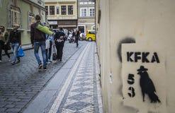 Kafka, Prag Stockbilder