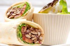 5058200 kafta shawarma chicken pita wrap roll sandwich. Kafta shawarma chicken pita wrap roll sandwich Royalty Free Stock Photos