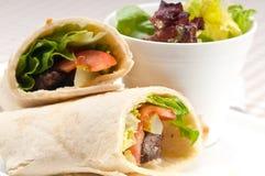 Kafta shawarma chicken pita wrap roll sandwich. Traditional arab mid east food Royalty Free Stock Photography