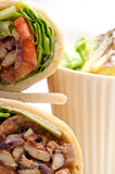 Kafta shawarma chicken pita wrap roll sandwich Stock Photos