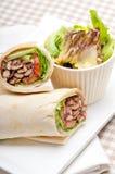 Kafta shawarma chicken pita wrap roll sandwich. Traditional arab mid east food Royalty Free Stock Photo