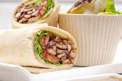 Kafta shawarma chicken pita wrap roll sandwich. Traditional arab mid east food Royalty Free Stock Photos