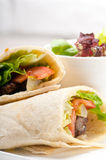 Kafta shawarma chicken pita wrap roll sandwich Stock Photo