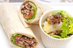 Kafta shawarma chicken pita wrap roll sandwich Royalty Free Stock Photo