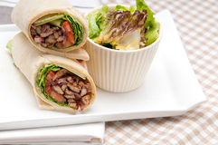 Kafta shawarma chicken pita wrap roll sandwich Royalty Free Stock Photography