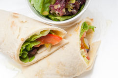 Kafta shawarma chicken pita wrap roll sandwich. Traditional arab mid east food Stock Images