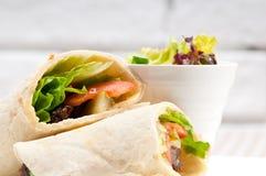 Kafta shawarma chicken pita wrap roll sandwich Royalty Free Stock Image