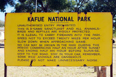 Kafue National Park rule Stock Images