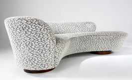Kagan sofa with patterned wool upholstery  Stock Images