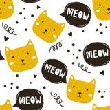 Kaganiec koty, bezszwowy wzór ilustracji