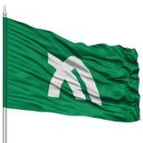 Kagawa Japan Prefecture Flag aislado en asta de bandera Foto de archivo libre de regalías
