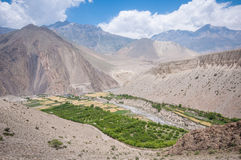Kagbeni, Annapurna ślad, mustang, Nepal Zdjęcie Stock