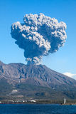 Kagoshima Japan's Mt Sakurajima volcano erupts Royalty Free Stock Photo