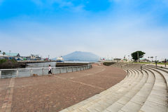 Kagoshima, sakurajima. KAGOSHIMA,JAPAN - 19 JUNE,2017: Sakurajima is an active composite volcano and a former island . however the city provide the waterfront Stock Photo
