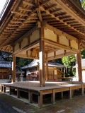 A kagura stage in front of a Shinto shrine, Japan Royalty Free Stock Photography