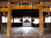 Kagura stage, Himure Hachiman Shrine, Omi-Hachiman, Japan Stock Photography
