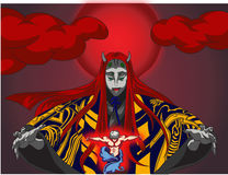 Kaguya. This image is illustration op japanese ghost or god Stock Photo