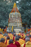 Kagyu monlam in Bodgaya,India Royalty Free Stock Photo