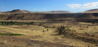 Kah - collines nee de l'Orégon de réservation de ventres Photos libres de droits