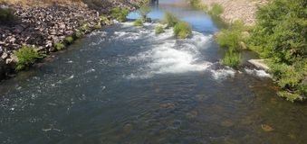 Kah - rivière chaude de l'eau de l'Orégon de réservation nee de ventres Photos libres de droits