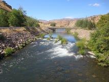 Kah - warmer Wasserfluß Nee Ta-Reserve-Oregons stockfoto