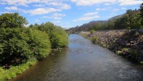 Kah - warmer Wasserfluß Nee Ta-Reserve-Oregons lizenzfreies stockfoto