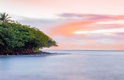 Kahana Bay at Sunrise. Peaceful bay located on Windward Oahu, Hawaii Stock Images