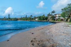 Kahana Shoreline. A view of the shoreline in the Kahana area of Maui, Hawaii Royalty Free Stock Photos