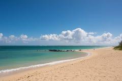 Kahana strand i Maui, Hawaii Arkivbilder