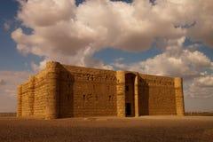 Kaharana ökenslott i Jordanien Arkivbild
