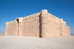 Kaharana: desert castle in Jordan Royalty Free Stock Image