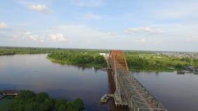 Kahayan桥梁帕朗卡拉亚地标 免版税库存图片