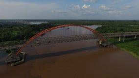 Kahayan Bridge in Palangkaraya. Aerial view of Kahayan Bridge in Palangkaraya city, Indonesia Stock Images