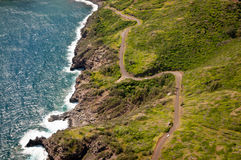 Kahekili highway along Maui island coast Stock Photo