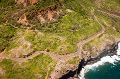 Kahekili highway along Maui island coast Royalty Free Stock Photo