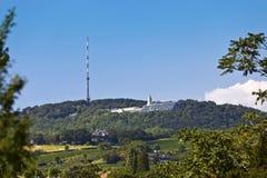 Kahlenberg - conosciuto per la migliore vista a Vienna Fotografia Stock
