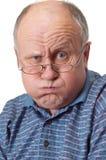 Kahler älterer Mann, der herum täuscht Lizenzfreies Stockbild