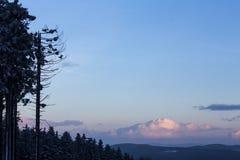 Kahler asten paisaje del invierno en Alemania Fotografía de archivo libre de regalías