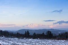 Kahler asten paisaje del invierno en Alemania Fotografía de archivo