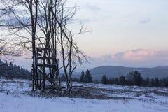 Kahler asten paisaje del invierno en Alemania Imagenes de archivo