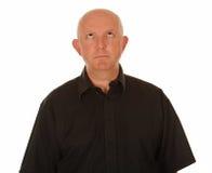 Kahler Mann, der oben schaut Lizenzfreie Stockbilder