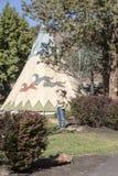 Kahneeta手段和东部俄勒冈风景 免版税库存照片