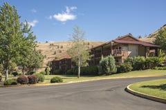 Kahneeta resort and Eastern Oregon landscape. Royalty Free Stock Image