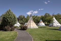Kahneeta resort and Eastern Oregon landscape. Royalty Free Stock Images