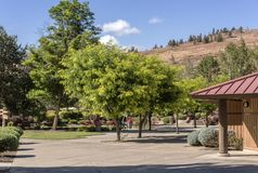 Kahneeta resort and Eastern Oregon landscape. Royalty Free Stock Photo