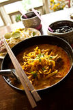 Kaho Soy. Northern Thai Noodle Curry Soup Stock Photography